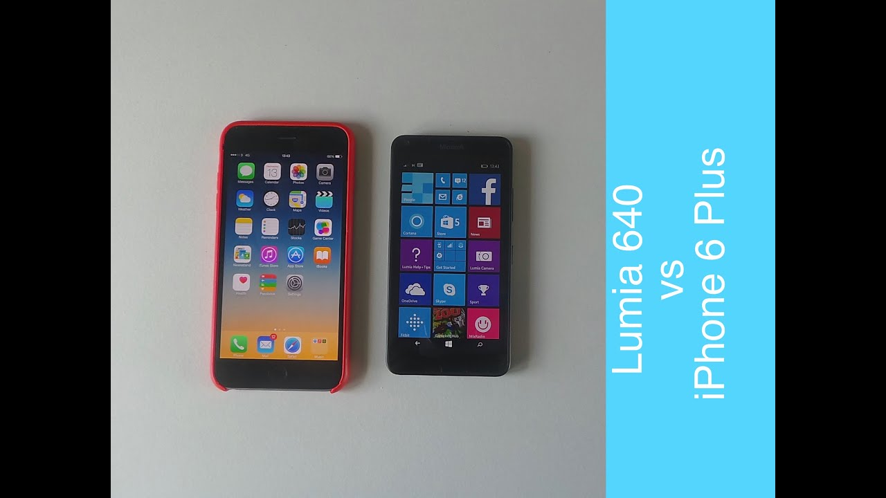 Microsoft Lumia 640 vs iPhone 6 Plus