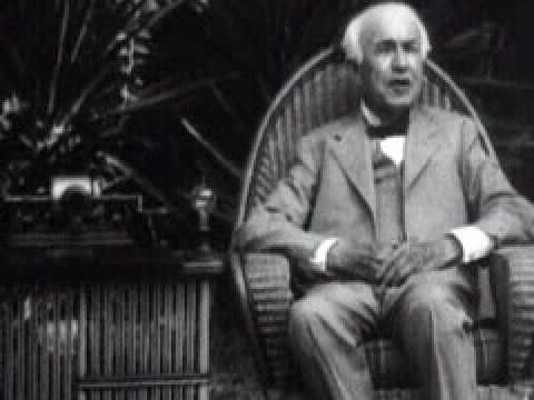 Thomas Edison 1847 - 1931  talking in movie
