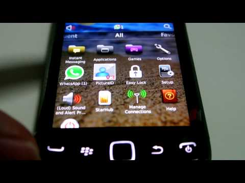 Easy Lock Pro on BlackBerry Curve 9380