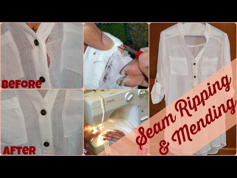 ★ 62 ★ How To Mend a Ripped Seam || VEDA Day 22 || Let's Get Crafty, Ep. 3