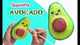 Cara Membuat Squishy Alpukat - how to make Avocado Squishy
