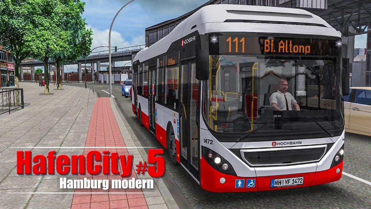 omsi 2 hamburg hafencity 5 angekommen in altona mit dem volvo hybridbus bus simulator. Black Bedroom Furniture Sets. Home Design Ideas