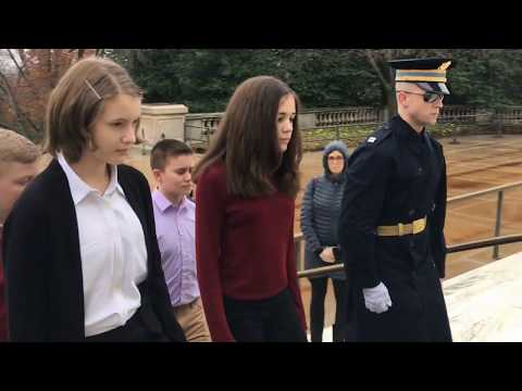 2020 Tomb of the Unknown Soldier-Wreath Laying Ceremony- Pioneer Valley Christian Academy