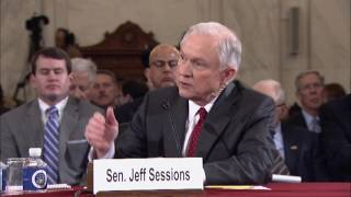 Senator Coons questions Sen. Sessions at his hearing for Attorney General