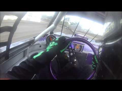 peoria speedway street stock heat 9 30 17 pete odell helmet cam