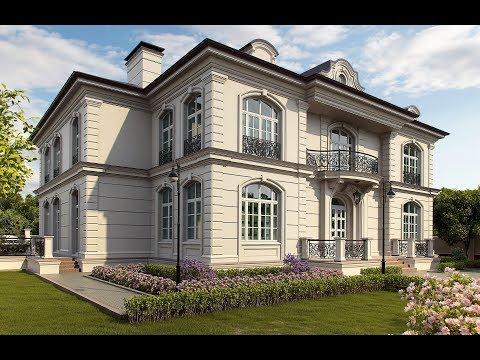 Проект фасада загородного дома – 520 кв.м