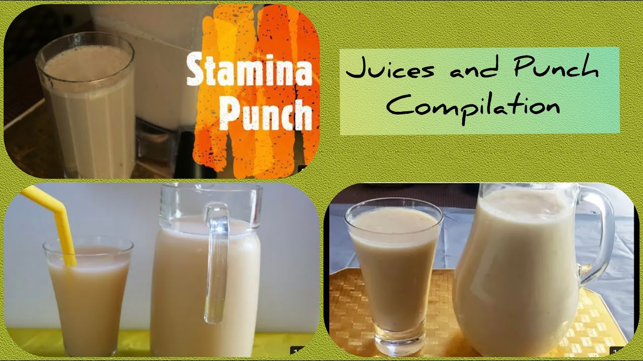 Juices and Punch Compilation Part 1- The Jamaican Cooking Journey