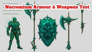 Runescape 3 Necromium Armour and Weapons Test