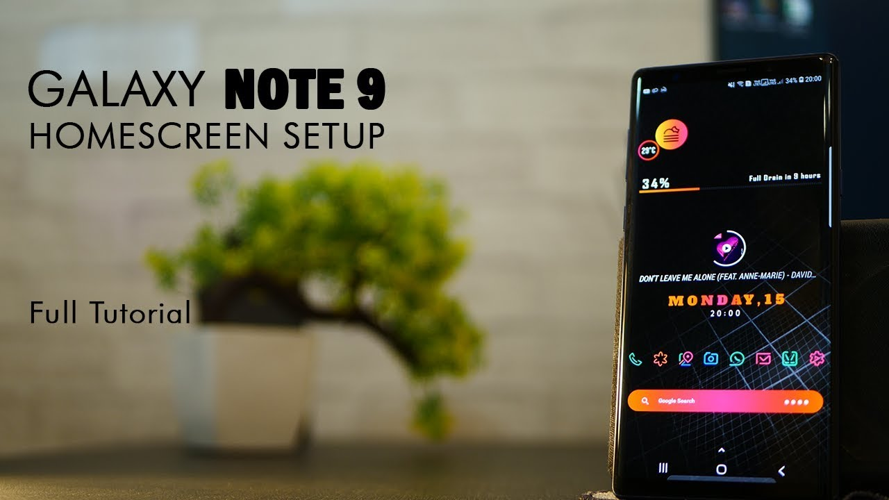 Customizing the Galaxy Note 9 to look SUPER AWESOME!