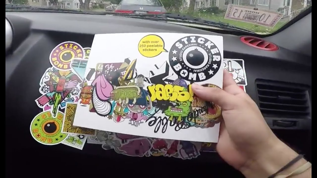 diy sticker bombing my car interior youtube. Black Bedroom Furniture Sets. Home Design Ideas