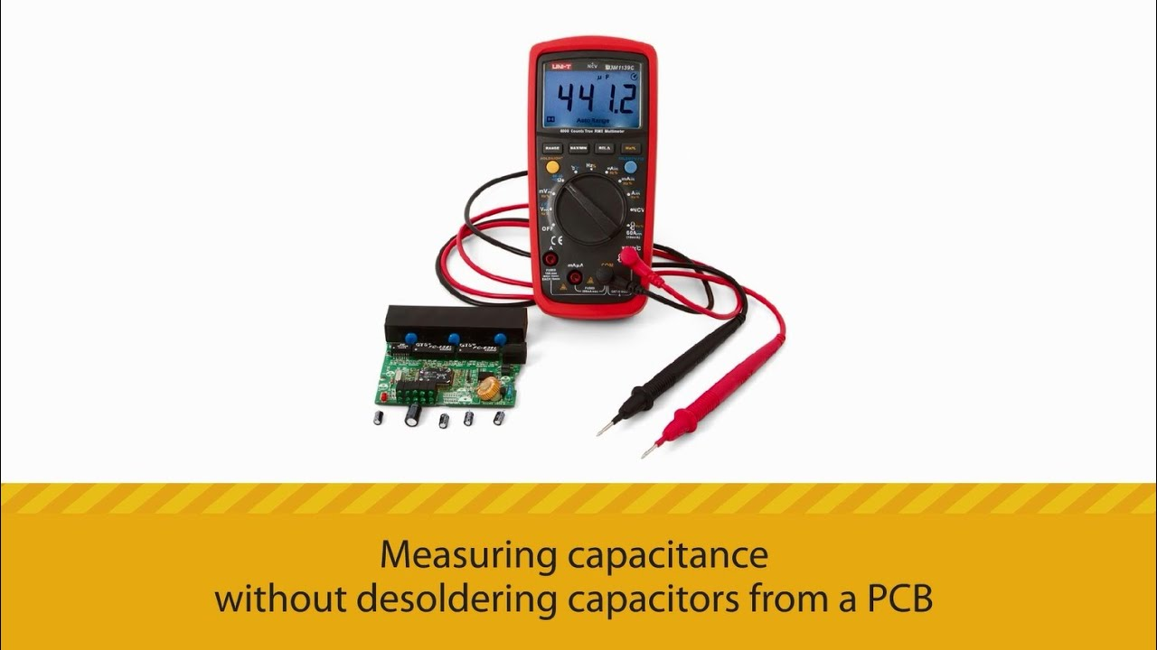 measuring capacitance without desoldering capacitors from a pcb rh youtube com Electrolytic Capacitor Schematic Electrolytic Capacitor Markings