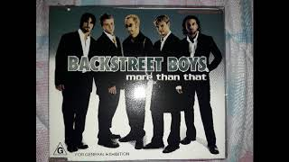 Baixar BACKSTREET BOYS - MORE THAN THAT (SINGLE CD)