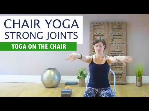 chair yoga  home exercise for bad knees hips stretching