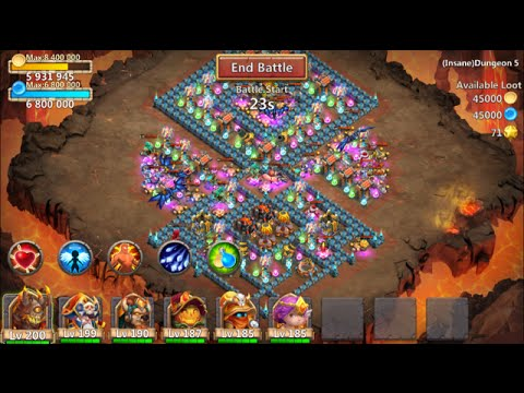 New Insane Dungeon 5-1 Castle Clash 3 Flamed
