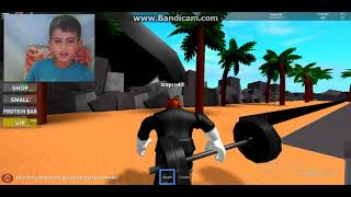 (roblox) I'm playing muscle-building.