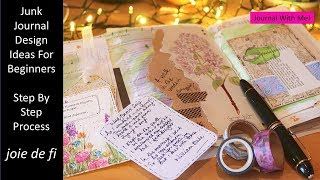 Junk Journal Design Ideas For Beginners | Step By Step Process