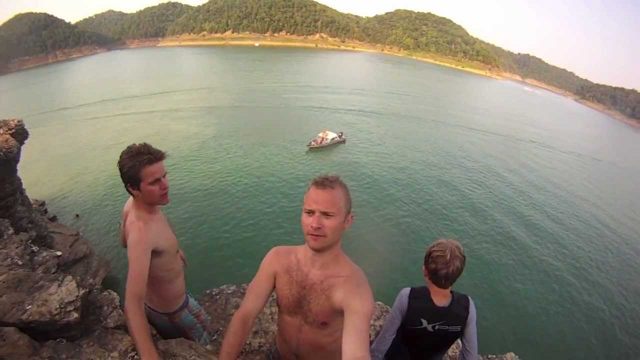 GoPro HD Primitive Camping Cliff Jumping and Party Cove Lake