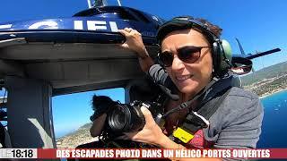 """Le 18:18 - Un hélicoptère """"portes ouvertes"""" pour photographier la Provence"""