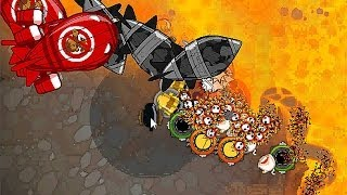 Bloons Monkey City - Level 31 - DDTs on Volcano Squigglecano - NLL