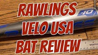 2018 Rawlings Velo USA Baseball Bat -10 Review - True Weight and Length