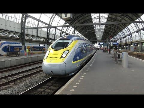 Treinen In Amsterdam Centraal (met Eurostar!!)   De Treinreiziger Treint Door Nederland