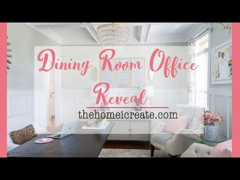 Dining Room Office Reveal | One Room Challenge