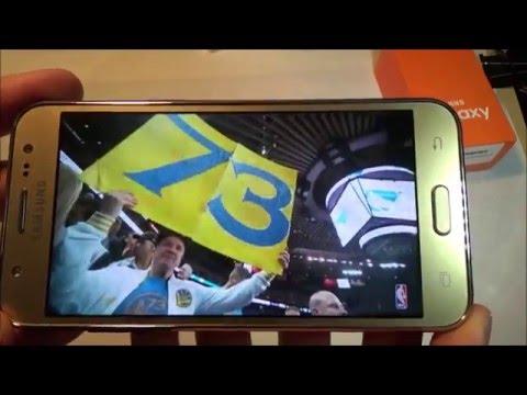 Telefon mobil smartphone Samsung Galaxy J5 4G Gold, model 2015 - (blogoteca.eu)