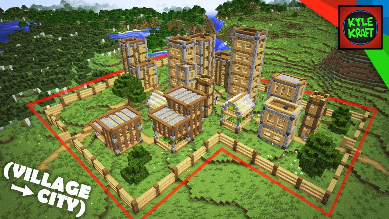 Minecraft  The EASY VILLAGE CITY Survival Base! (How To Build)