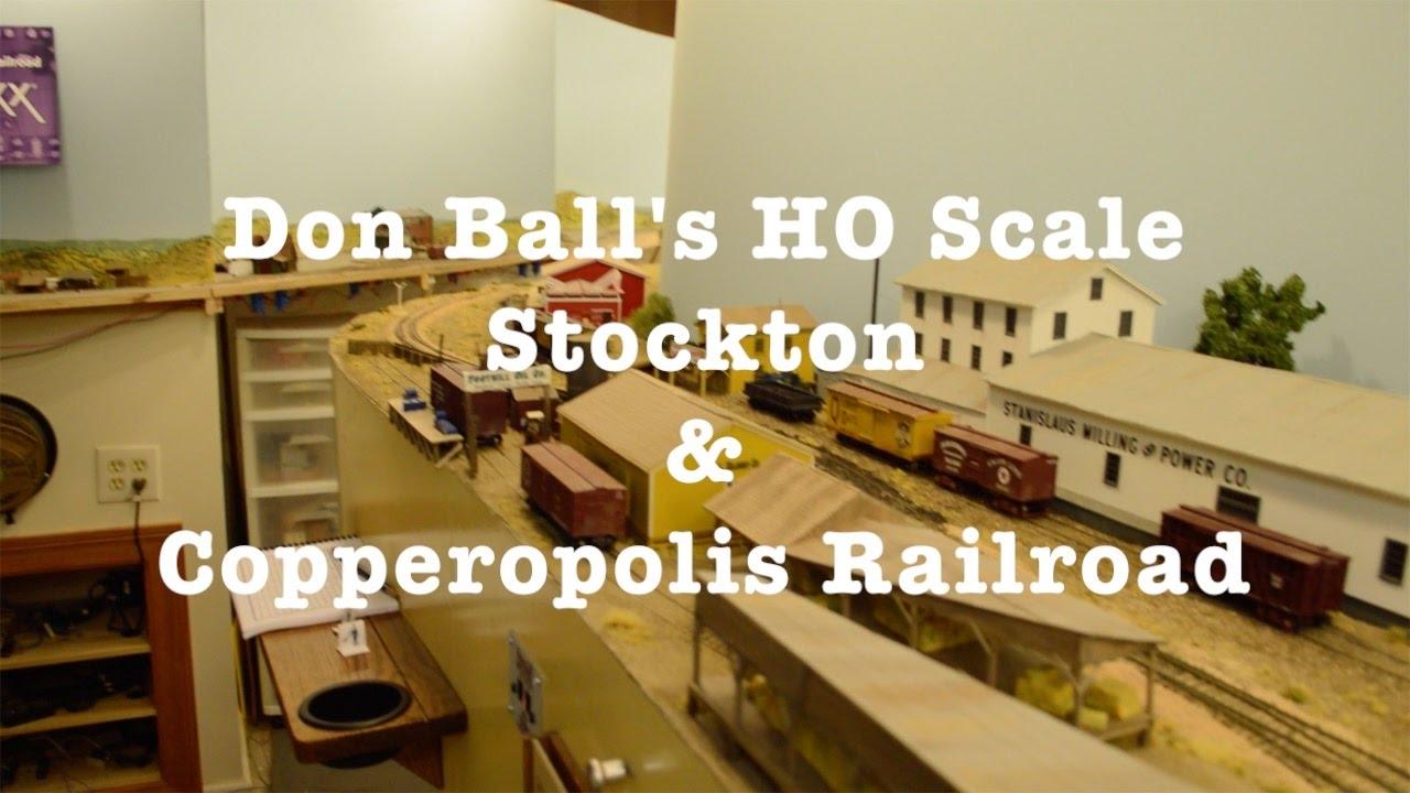 don ball 39 s ho scale stockton copperopolis railroad youtube. Black Bedroom Furniture Sets. Home Design Ideas
