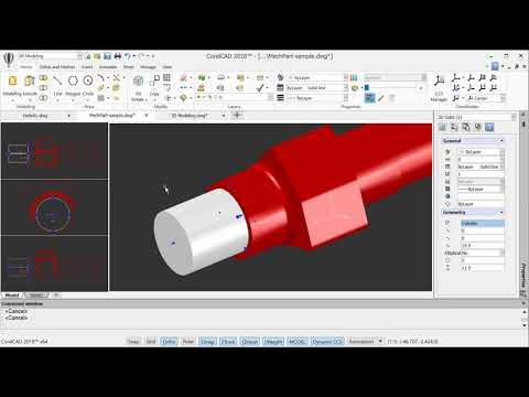 3D solid modeling and editing with CorelCAD