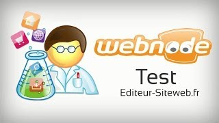 Test Webnode : aperçu de Webnode, l'éditeur de site Internet en ligne.
