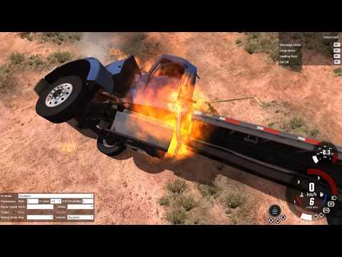 Что будет если скинуть машину с неба? В Beamng Drive!