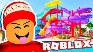 O PARQUE AQUÁTICO DO ROBLOX → Roblox Momentos Engraçados #130 😂🎮 (Roblox Escape The Waterpark Obby)