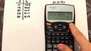 Linear Regression using the calculator Sharp EL-531W
