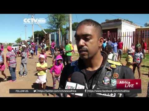 South African bikers bring Easter eggs to children in poor communities