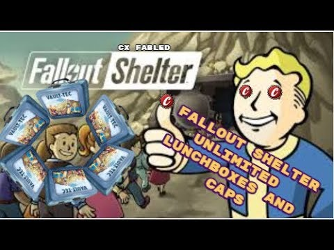 Fallout Shelter UNLIMITED LUNCHBOXES AND CAPS (November 2019)