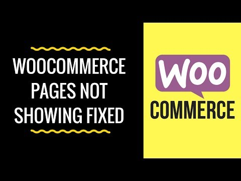 WooCommerce Pages Not Displaying or Showing - Shortcode for Cart, Checkout and My Account Pages - 동영상