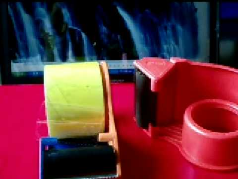 Wide Plastic Packing Adhesive Tape Dispenser Cutter Youtube