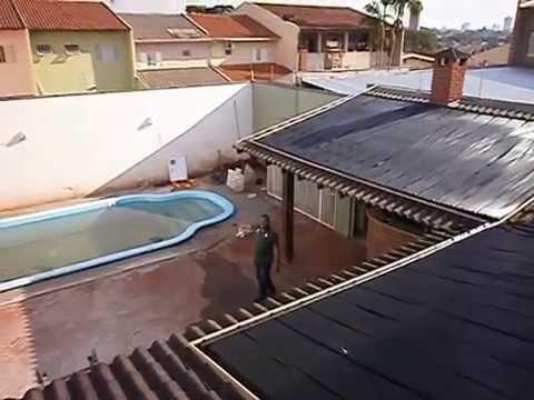 Aquecedor solar piscina ecomatek mant m em 32 graus for Piscinas semienterradas