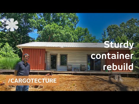 Bill Lilly uses containers to rebuild a burnt Oxford MS home