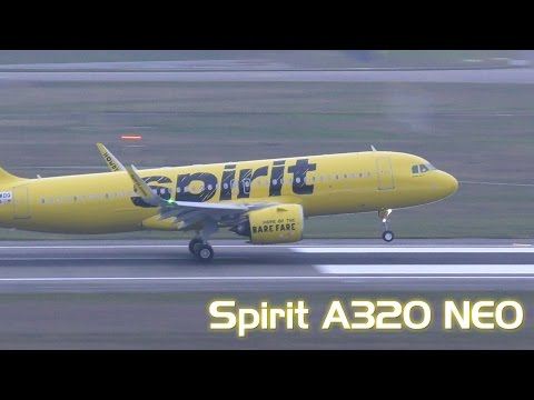 Spirit Airlines - New Airbus A320NEO landing at Toulouse, France / TLS