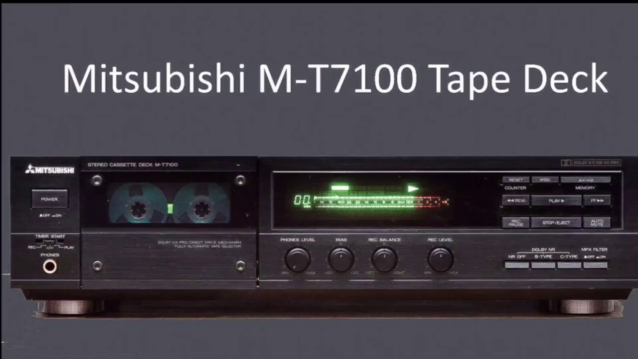 Mitsubishi Cassette Tape Deck M T7100 With Ultra Silent Mechanism