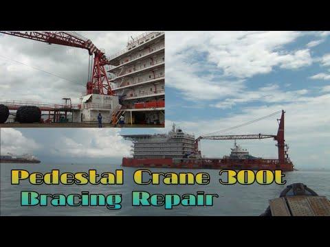 PEDESTAL CRANE 300T BRACING REPAIR - Part 1. (Vlog #01)
