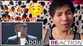 ABDUL YOU ARE THE REASON (Calum Scott) Spekta Show Top 5 Indonesian Idol 2018 Reaction!