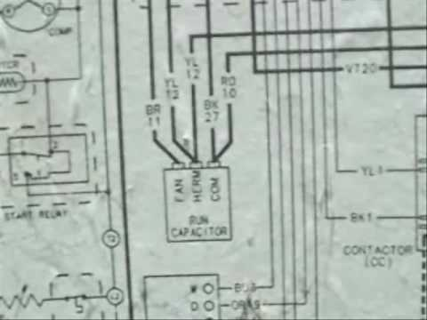 hqdefault hvac wiring diagrams 2 youtube Electric Motor Capacitor Wiring Diagram at reclaimingppi.co