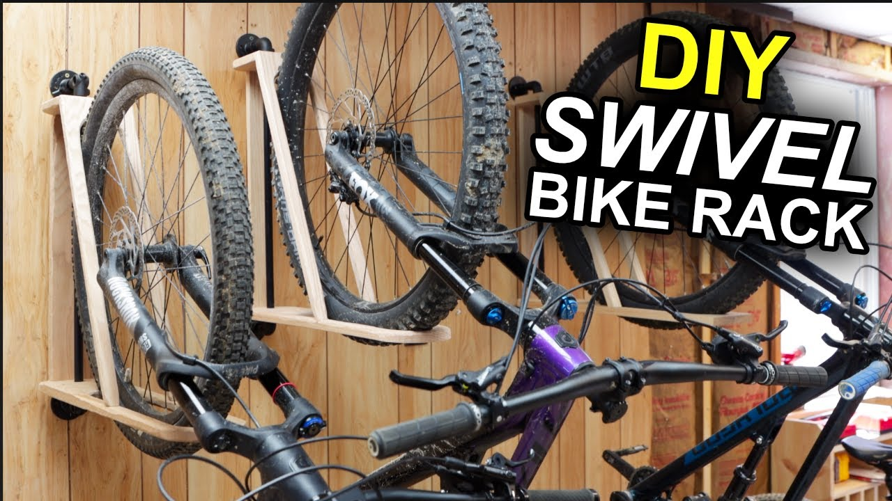 How to build the BEST bike rack! |  DIY Swivel Bike Rack