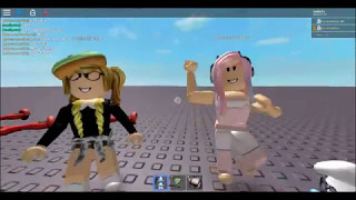 playing with my best friends (ROBLOX) :3