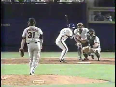 San Francisco Giants vs New York Mets in 1990