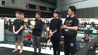 卜部兄弟が3度目の兄弟対決について語った!?RIZIN・格闘技EXPOに-60kg王者・卜部弘嵩、卜部功也、平本蓮が登場