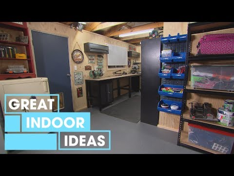 Man Cave and Workshop Makeover | Indoor | Great Home Ideas